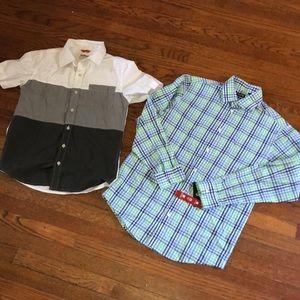 Boys size 14/16 Lg Chaps Button Down Dress Shirt +